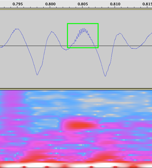 リップノイズ拡大波形