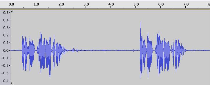 除去前の音声波形