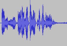 コンプレッサーをかけた波形