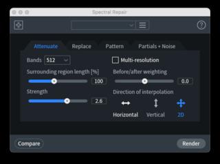 iZotope RX Mouse De-clickウィンドウ